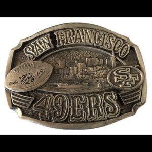 Other - Vintage Limited Edition 49ers belt buckle